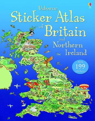 Sticker Atlas of Britain and Northern Ireland (Paperback)