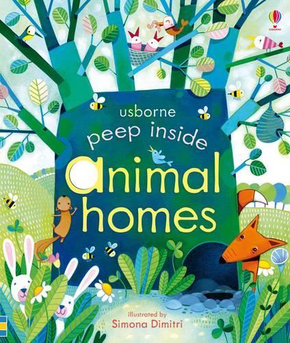 Peep Inside Animal Homes - Peep Inside (Board book)