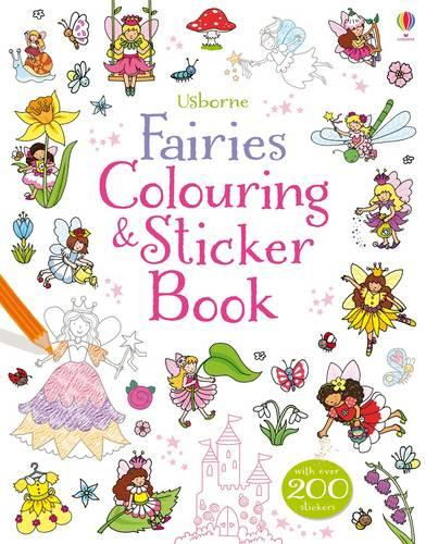 Fairies Colouring and Sticker Book - Sticker and Colouring Books (Paperback)