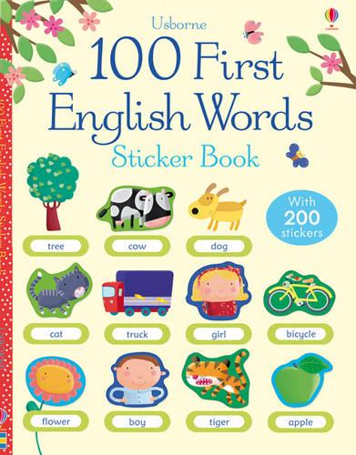 100 First Words in English Sticker Book (Paperback)