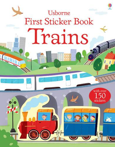 First Sticker Book Trains - First Sticker Books series (Paperback)
