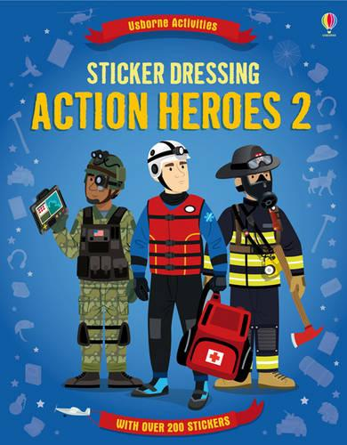 Action Heroes 2 - Sticker Dressing (Paperback)
