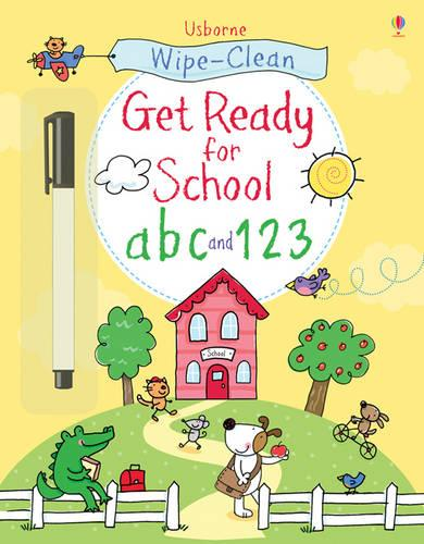 Wipe-Clean Get Ready for School ABC and 123 - Wipe-clean Books (Paperback)