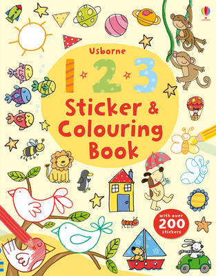 123 Sticker and Colouring book - Sticker & Colouring book (Paperback)
