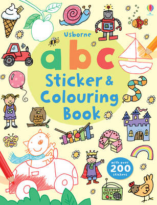 ABC Sticker and Colouring Book - Sticker & Colouring Book (Paperback)