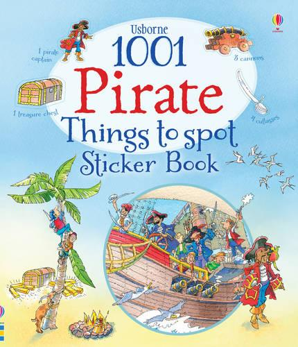 1001 Pirate Things to Spot Sticker Book - 1001 Things (Paperback)