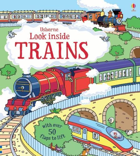 Look Inside Trains - Look Inside (Board book)