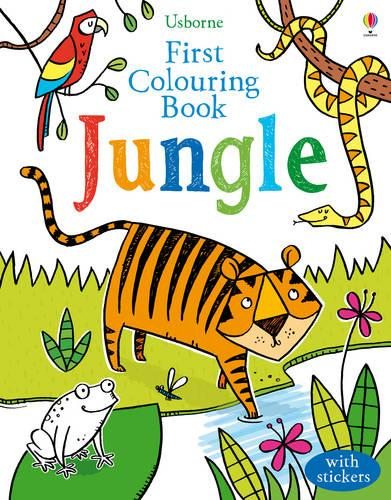 First Colouring Book Jungle - First Colouring Books with stickers (Paperback)
