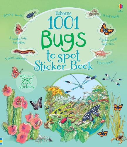 1001 Bugs to Spot Sticker Book - 1001 Things (Paperback)