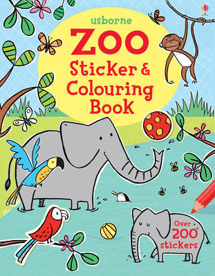 Zoo Sticker and Colouring Book - Sticker & Colouring book (Paperback)