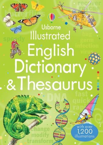 Usborne Illustrated English Dictionary and Thesaurus - Illustrated Dictionaries and Thesauruses (Paperback)