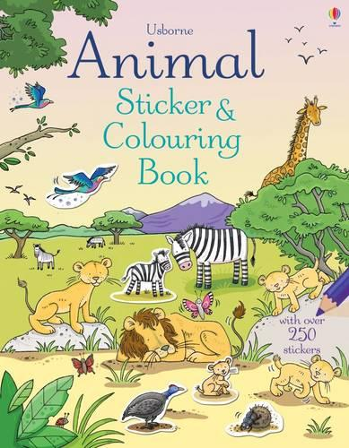 Animal Sticker and Colouring Book - Sticker and Colouring Books (Paperback)