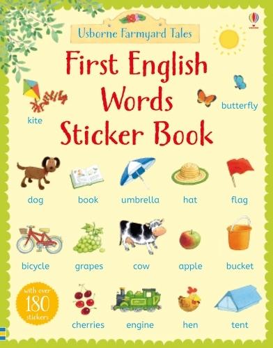 Farmyard Tales First English Words Sticker Book - Farmyard Tales First Words Sticker (Paperback)
