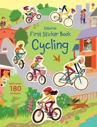 First Sticker Book Cycling - First Sticker Books series (Paperback)