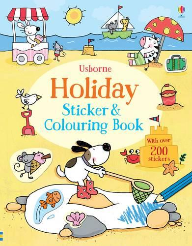 Holiday Sticker and Colouring Book - Sticker & Colouring book (Paperback)
