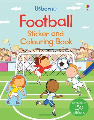 Football Sticker and Colouring Book - Sticker and Colouring Books (Paperback)