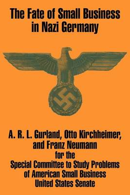 The Fate of Small Business in Nazi Germany (Paperback)