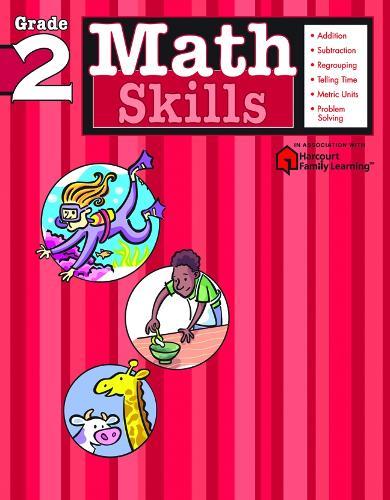 Math Skills: Grade 2 (Flash Kids Harcourt Family Learning) (Paperback)
