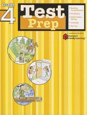 Test Prep: Grade 4 (Flash Kids Harcourt Family Learning) (Paperback)