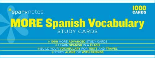 More Spanish Vocabulary SparkNotes Study Cards