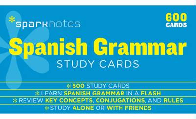 Spanish Grammar SparkNotes Study Cards