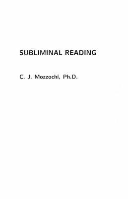 Subliminal Reading (Paperback)