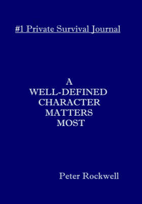 A Well-defined Character Matters Most (Hardback)