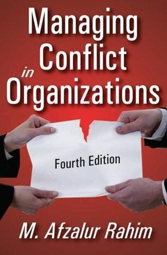 Managing Conflict in Organizations (Hardback)