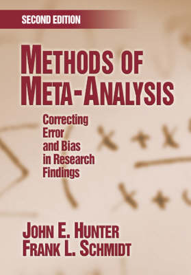 Methods of Meta-Analysis: Correcting Error and Bias in Research Findings (Paperback)