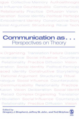 Communication as ...: Perspectives on Theory (Hardback)