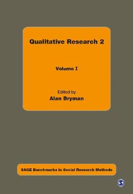 Qualitative Research 2 - Sage Benchmarks in Social Research Methods (Hardback)