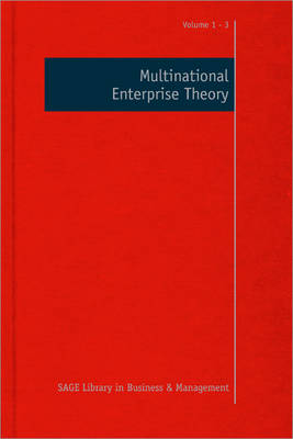 Multinational Enterprise Theory - Sage Library in Business and Management (Hardback)