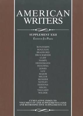American Writers: Supplement XXII - American Writers: Supplement 22 (Hardback)