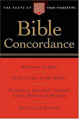 Pocket Bible Concordance: Nelson's Pocket Reference Series (Paperback)