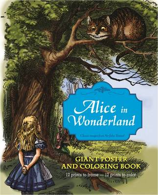 Alice In Wonderland Giant Poster And Coloring Book Paperback