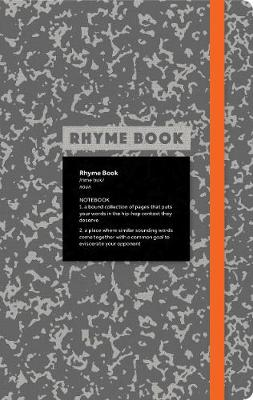 Rhyme Book: A lined notebook with quotes, playlists, and rap stat (Paperback)