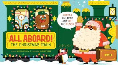All Aboard! The Christmas Train (Board book)