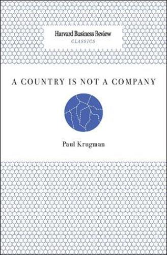 A Country Is Not a Company - Harvard Business Review Classics (Paperback)