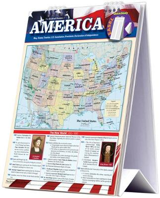 America - History Easel Book: a QuickStudy Reference Tool with a US Map, History Timeline, US Constitution, Presidents & Declaration of Independence (Spiral bound)