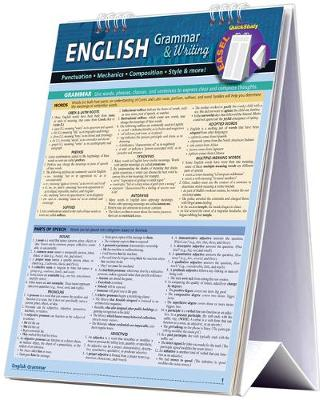English Grammar & Writing Easel Book: a QuickStudy reference tool for Punctuation, Mechanics, Composition, Style, & More (Spiral bound)