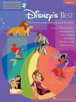 Easy Piano Play-Along Volume 15: Disney's Best (Book/Online Audio) (Paperback)