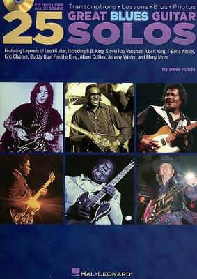 Dave Rubin: 25 Great Blues Guitar Solos - Transcriptions, Lessons, Bios And Photos (Paperback)