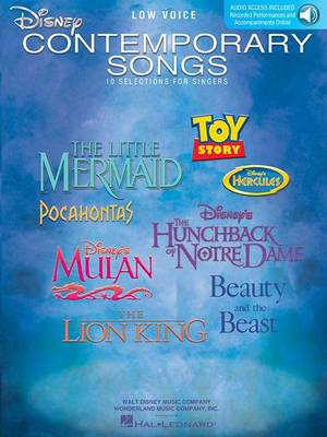 Disney Contemporary Songs For Low Voice (Book/Online Audio) (Paperback)