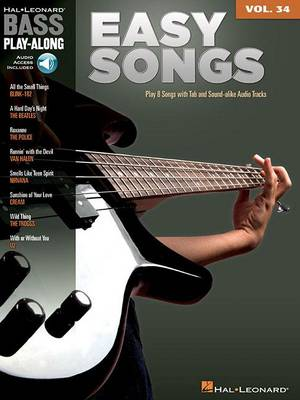 Bass Play-Along Volume 34: Easy Songs (Book/Online Audio) (Paperback)
