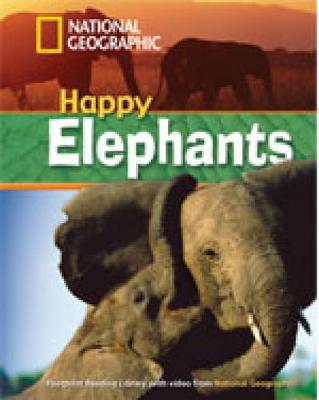 Happy Elephants + Book with Multi-ROM: Footprint Reading Library 800