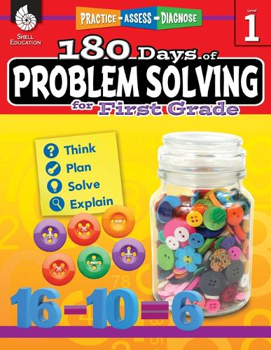 180 Days of Problem Solving for First Grade: Practice, Assess, Diagnose - 180 Days of Practice (Paperback)