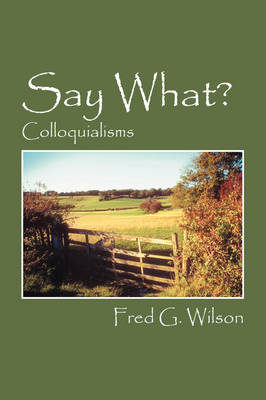 Say What?: Colloquialisms (Paperback)