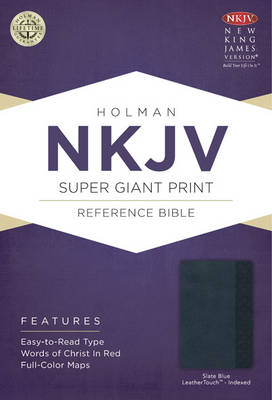 NKJV Super Giant Print Reference Bible, Burgundy Imitation Leather (Leather / fine binding)