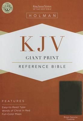 Giant Print Reference Bible-KJV (Leather / fine binding)