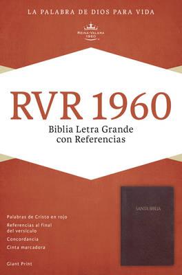 RVR 1960 Biblia Letra Gigante con Referencias, borgona imitacion piel (Leather / fine binding)
